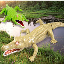 Simulation Animal Infrared Remote Control Crocodile Tricky Scary Eyes Glowing Reptile Animals Children Christmas Gifts