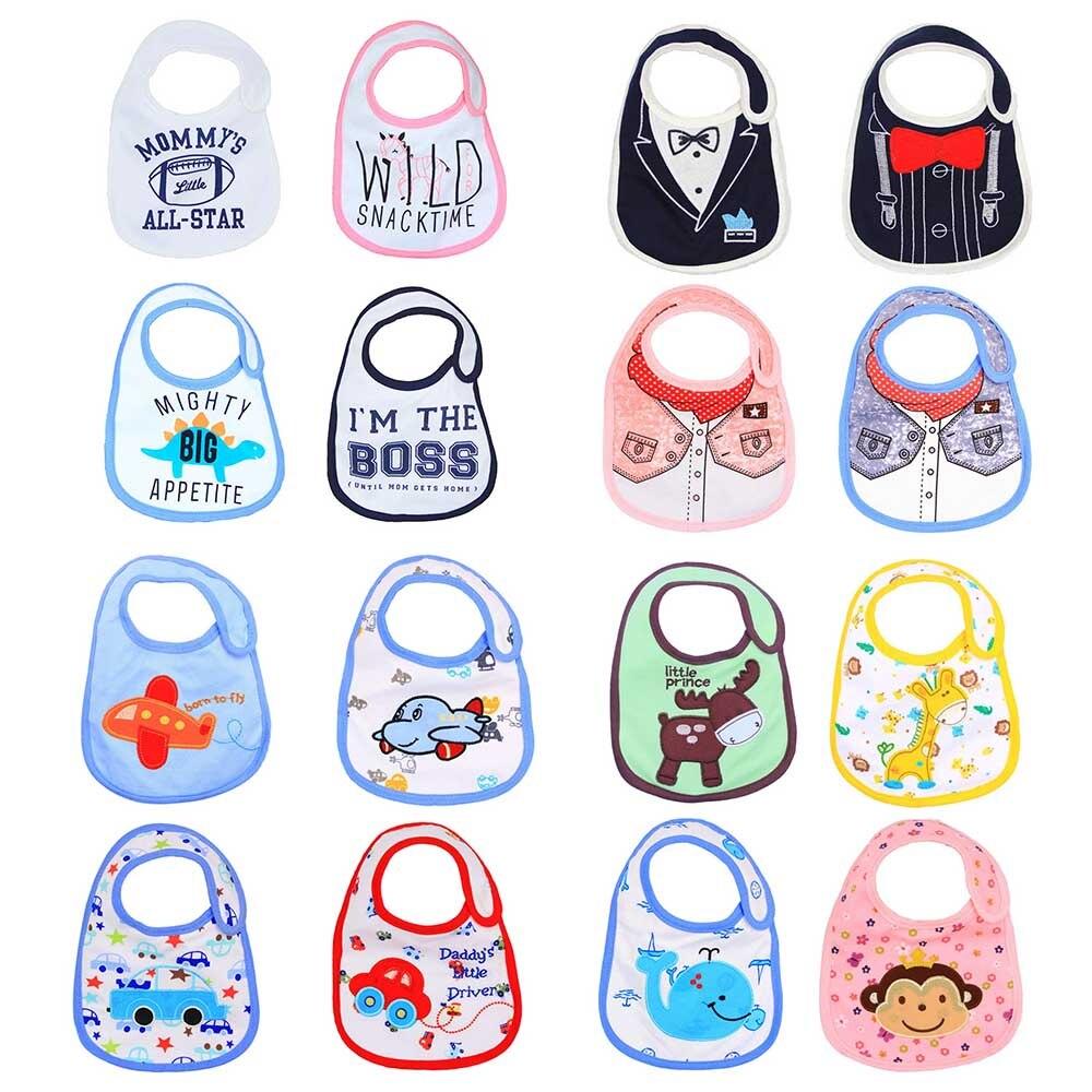 4 Teile/los Neugeborenen Baby Lätzchen Baumwolle Baby Schürzen Bib Infant Speichel Handtücher Nette Cartoon Tier Buchstaben Bib Baby Slabbetjes Baberos BüGeln Nicht
