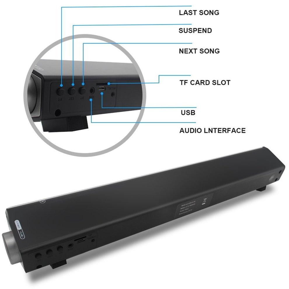 5pcs Wireless Bluetooth MP3 Multimedia Speaker System Home Theater Soundbar Bluetooth Subwoofer With LED Indicator m50w 2 1 multimedia speaker system 2 1 high fidelity multimedia speaker home theater 6 5 subwoofer 3 bass midrange driver