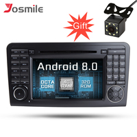 Android 8.0 7'' Octa Core 32GB ROM Car Gps Navigation For Mercedes/Benz/ML CLASS W164 ML350 ML300 Radio DVD Player Wifi DVR OBD