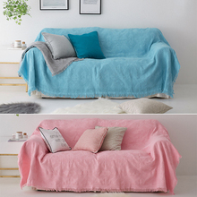 Solid Throw Blanket Cotton Pink Chunky Knitted Throw Blankets For Sofa Blue Weighted Plaid Blanket Cover Travel/Air Home Textile modern solid white tassel throw blanket jacquard knitted soft sofa blankets cotton blanket on travel plane home textile cobertor