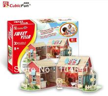 SWEET VILLA CubicFun 3D educational puzzle Paper & EPS Model Papercraft Home Adornment for christmas gift