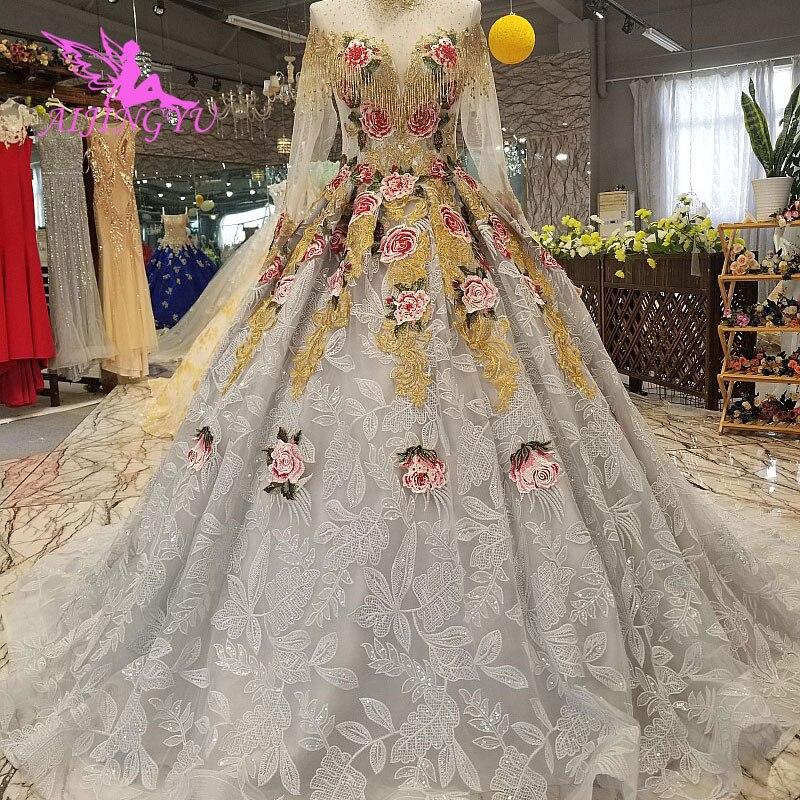 AIJINGYU Hochzeit Kleider Sammlung Einfache Brautkleider Elfenbein Beste Sexy Günstige Uk Kleid Plus Größe Muslimischen Hochzeit Kleid - 3