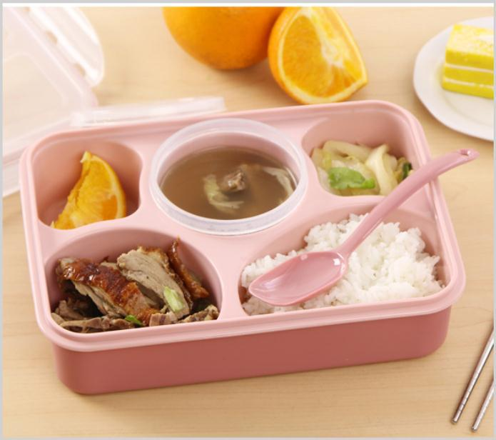 Lunch Box Microwave Lunch With Soup Polychoric Japanese Sushi Box Sealed