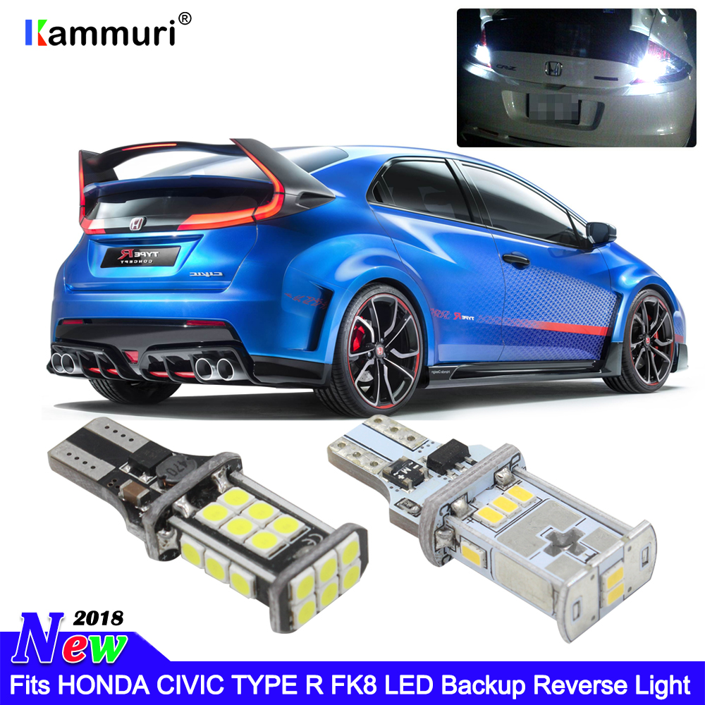 2X Backup Reverse Light 921 912 T15 LED Bulbs Error Free For Honda Accord Civic
