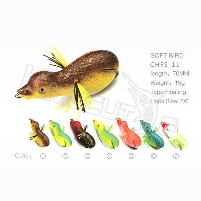 10 pcs random mixed color soft bird lure body baby duck for Fishing for ducks
