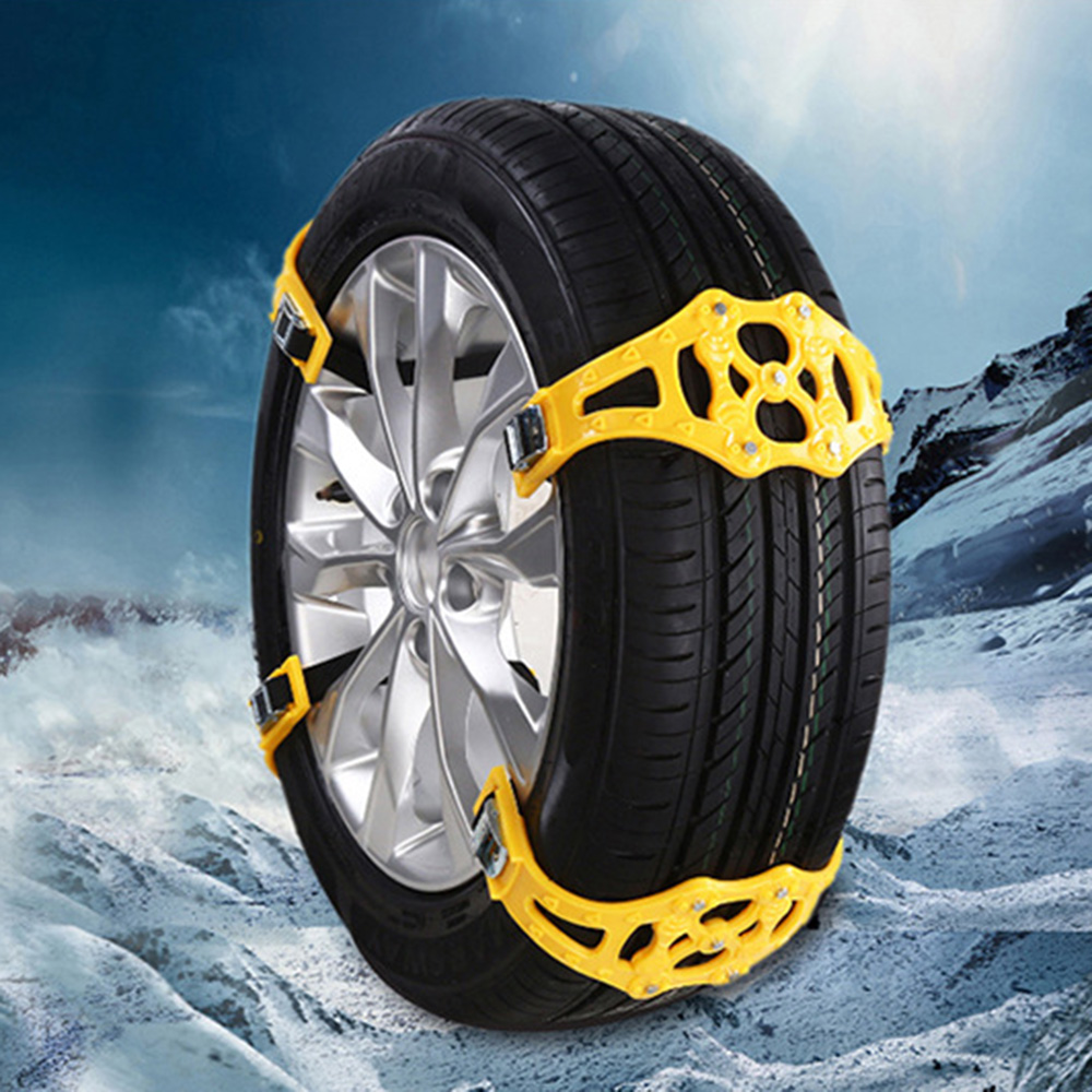 TPU Thickened Snow Tire Belt Winter Driving Mud Wheel Snow Chain Durable Roadway Safety Anti-Skid Chains
