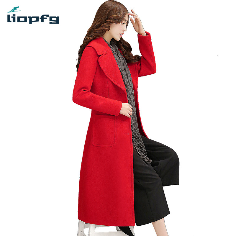font b Women s b font Brand 2017 New Winter Coat Plus Cotton Long Woolen