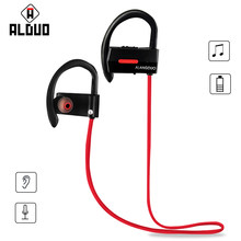 ALANGDUO A1 auriculares inalambrico bluetooth headset Waterproof Wireless Sports Bass Ecouteur Bluetooth V4.1 Earphone with Mic(China)