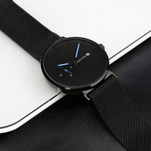 Erkek kol saatleri בובו ציפור גברים שעון פשוט נירוסטה תצוגת תאריך קוורץ שעונים משפחת מתנות Drop חינם