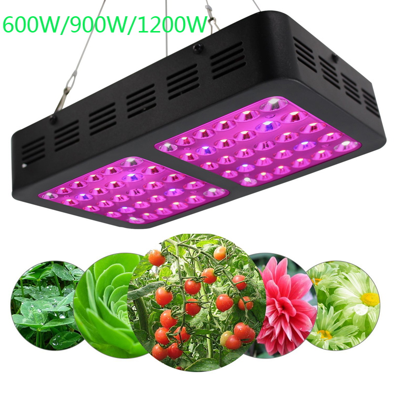 HOLLKY Hot 600W/900W/1200W Reflector-Series LED Grow Light Full Spectrum Plant Growing Lamp Panel for Greenhouse Indoor Plants full spectrum led grow lights 360w led hydroponic lamp for indoor plants growth vegetable greenhouse plants grow light russian
