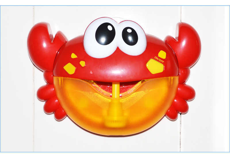 Baby Bath Outdoor Bubble Machine Crabs Bubble Machine Bathroom Automatic Bubbles Maker With Music Water Swim Kid Baby Bath Toys
