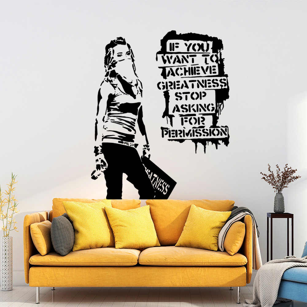 Exquisite Banksy Home Decorations Pvc