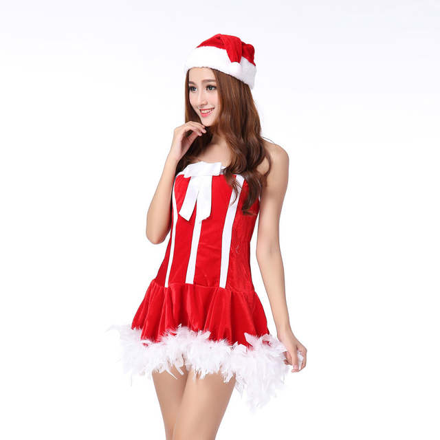 placeholder New Women Sexy Christmas Dress Costume Dresses Cosplay Girls  Xmas Outfit Fancy Party Mini Drees+ edf6e6f407c6