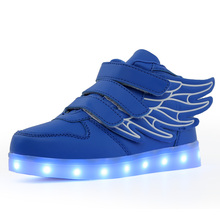 Girls shoes kids fashion leisure comfortable autumn bright basket Led boys glowing sneakers children