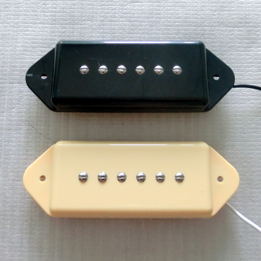 Free Shipping guitar parts N B SET Black Iovry color single coil Alnico 5 P90 dog