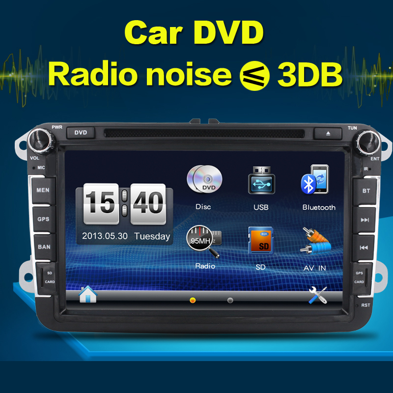Autoradio VW JETTA GOLF 5 6 POLO CC PASSAT TOURAN SHARAN TIGUAN SCIROCCO IN DASH font