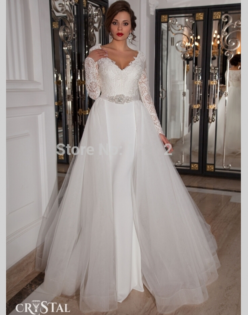 2015-New-Design-Hot-Sale-Sweetheart-Lace-Organza ... |Dresses With Detachable Skirts