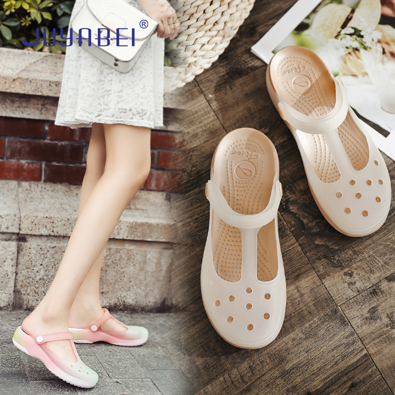Summer Soft And Breathable Thick-bottomed Hole Shoes Female Anti-skid Doctor Nurse Medical Shoes Hospital Laboratory Work Shoes
