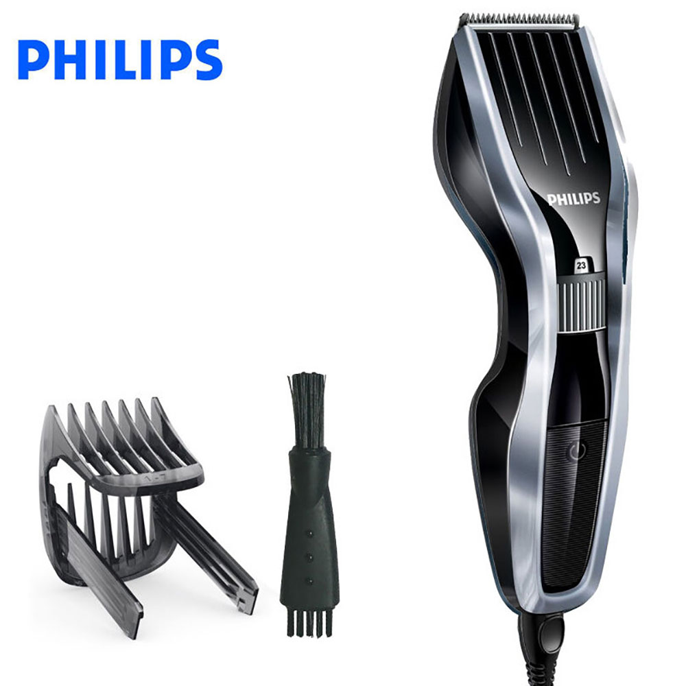 Philips series 5000 Hair clipper with Stainless steel blades, 24 length settings, Corded use, 2 beard combs and case HC5410/83Philips series 5000 Hair clipper with Stainless steel blades, 24 length settings, Corded use, 2 beard combs and case HC5410/83