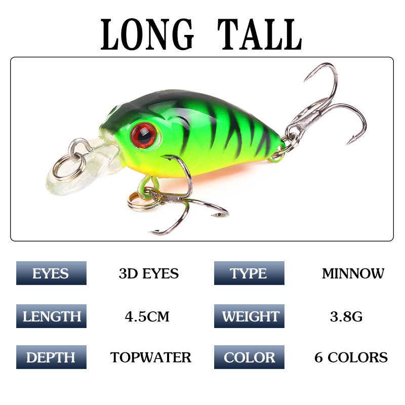 Nieuwe Vissen Lokken 4.5Cm 3.8G Crankbaits 1Pcs Micro Harde Pesca Kunstmatige Baits Mini Lokken Minnow Voor Pike bass Trout
