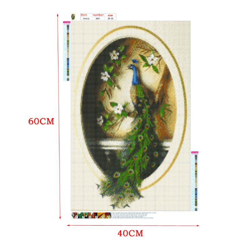 Peacock DIY 5D Full Drill Diamond Painting Embroidery Cross Stitch Kit Rhinestone Mosaic Home Decor Craft in Diamond Painting Cross Stitch from Home Garden