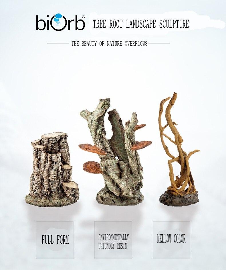 OASE Британский Biorb оригинальный аквариум натуральный орнамент погружной ёлки березовый корень моделирование украшения для ландшафта для ак