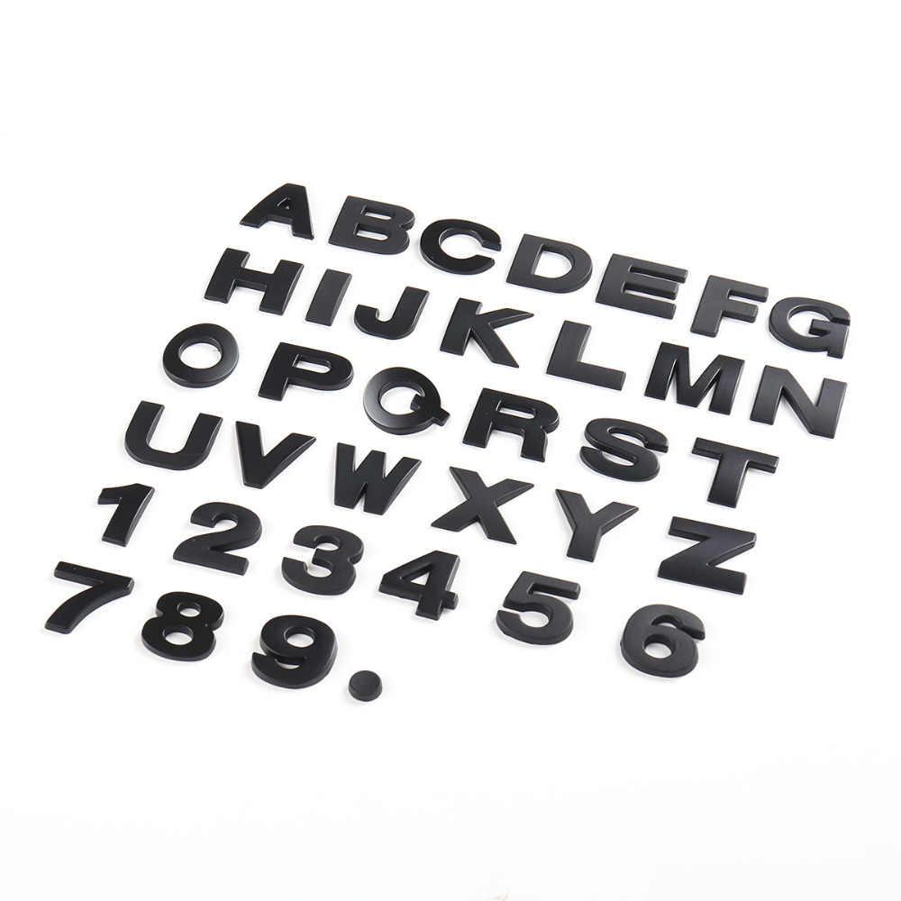 25mm diy letters alphabet emblem chrome car stickers digital badge automobiles logo 3d metal car accessories