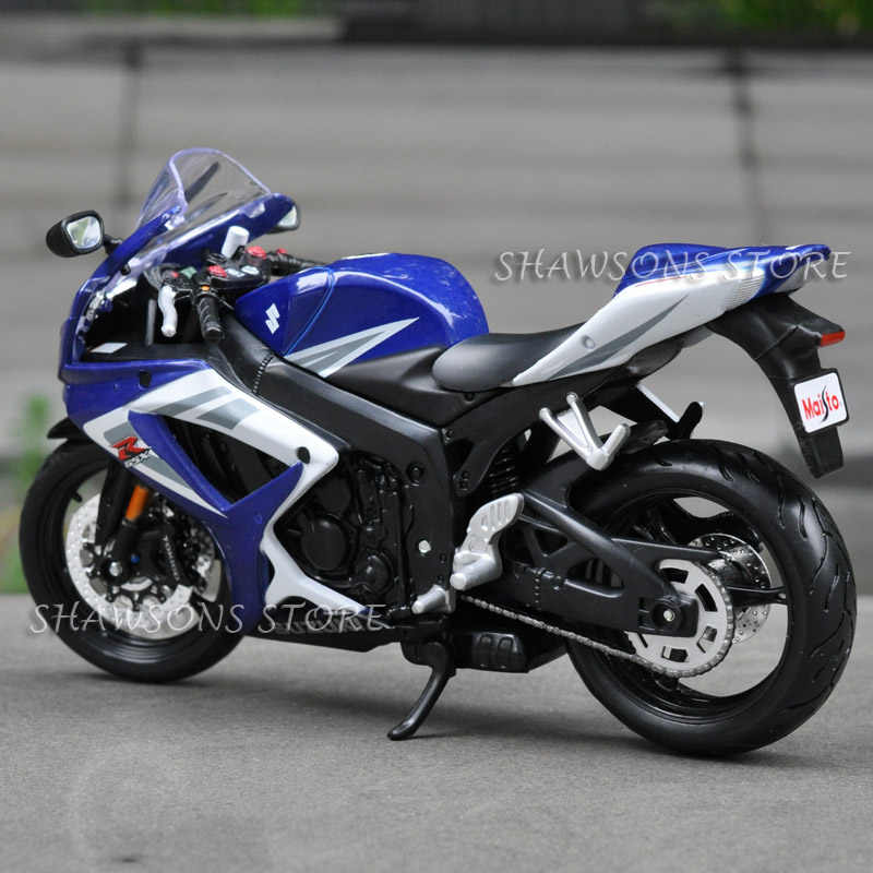 Diecast Model Mainan Maisto 1:12 Suzuki GSX-R750 Olahraga Sepeda Miniatur Sepeda Motor Replika