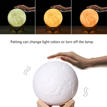 Creative Christmas New Year Gifts 3D Print Moon Decorative Lamp Book 3 Color Pat Light Home Decor USB Table LED Kids Night