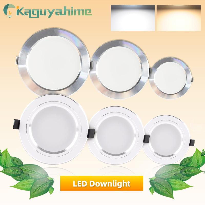 Kaguyahime LED Downlights 18W 15W 9W 5W 3W AC 220V 110V Ultra Thin Aluminum Spot Light For Living Room Down Light Ceiling Lamp