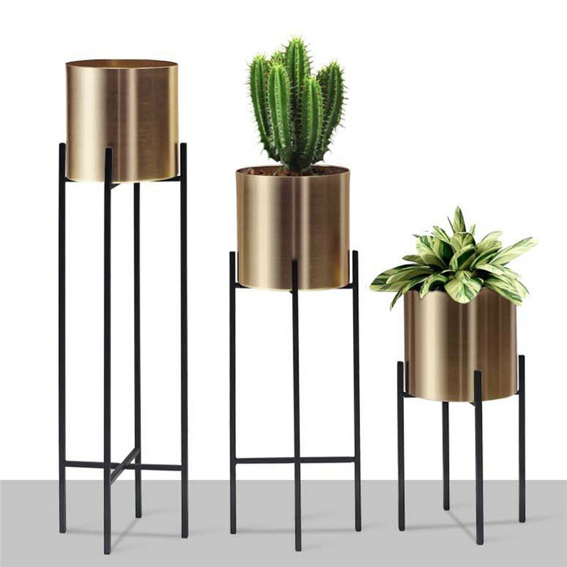 Nordic Metal Flower Pot Simple Creative Decorative Vase Iron Flower Stand Home Decoration