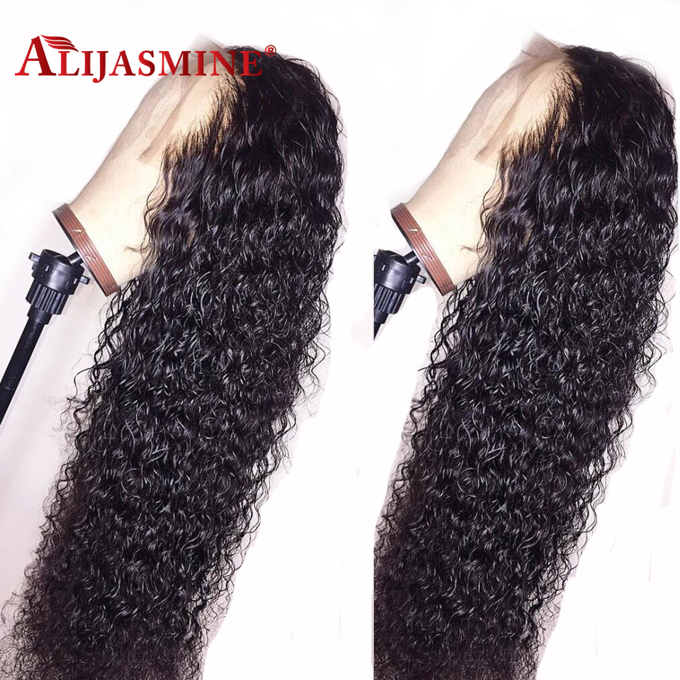 13x6 Curly Lace Front Human Hair Wigs With Baby Hair Brazilian Remy Hair Lace Front Wig Pre Plucked Bleached Knots Deep Parting