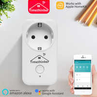 Timethinker WiFi Socket For Apple Homekit Smart EU Plug Work for Alexa Google Home Siri Voice APP Remote Control Russian Stock