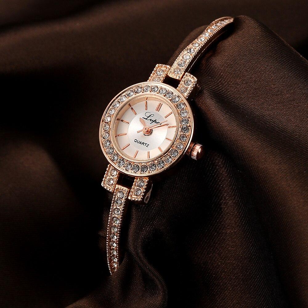 LVPAI Bracelet Ladies Wrist Watches Women Fashion Rhinestone Stainless Steel Quartz Watch Womens Casual Dress Watches Reloj #Zer women s clothing jeans high waist pencil jeans stretch denim trousers skinny slim pants