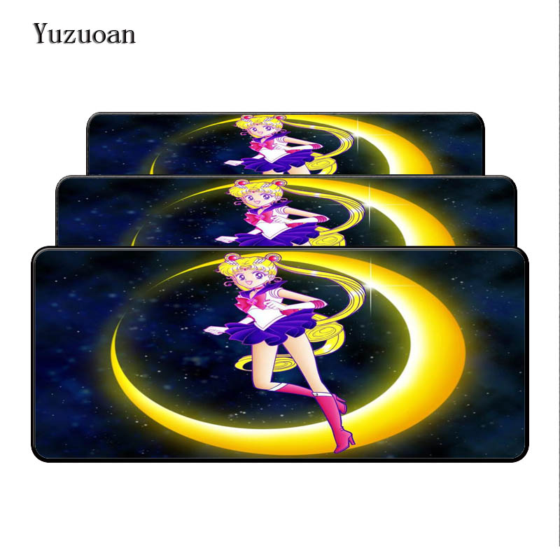 Yuzuoan Sailor Moon Anime Speed Free Shipping Large Lock Edge Gift Mousepad Computer Desk Mouse pad for LOL DOTA CSGO Gamer Pad
