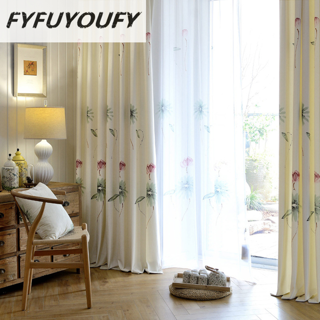 Online Shop Luxury Kitchen Curtains For Bedroom Printed Blackout