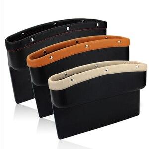 Image 3 - Органайзер для автомобильного сиденья, кожаный ящик для хранения автомобильного сиденья, консоль, боковой карман с нескользящим ковриком для сотового телефона, кошелек, карта для ключей от монет