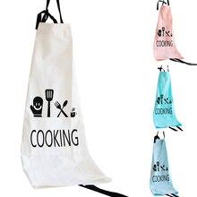 Unisex Cartoon Cookers Cooking Print Cotton Linen Home Kitchen Self-Tie Apron