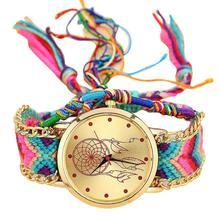 Vansvar бренд ручной работы плетеный Ловец снов часы для браслетов дружбы женский веревочный кварцевые часы relogio feminino