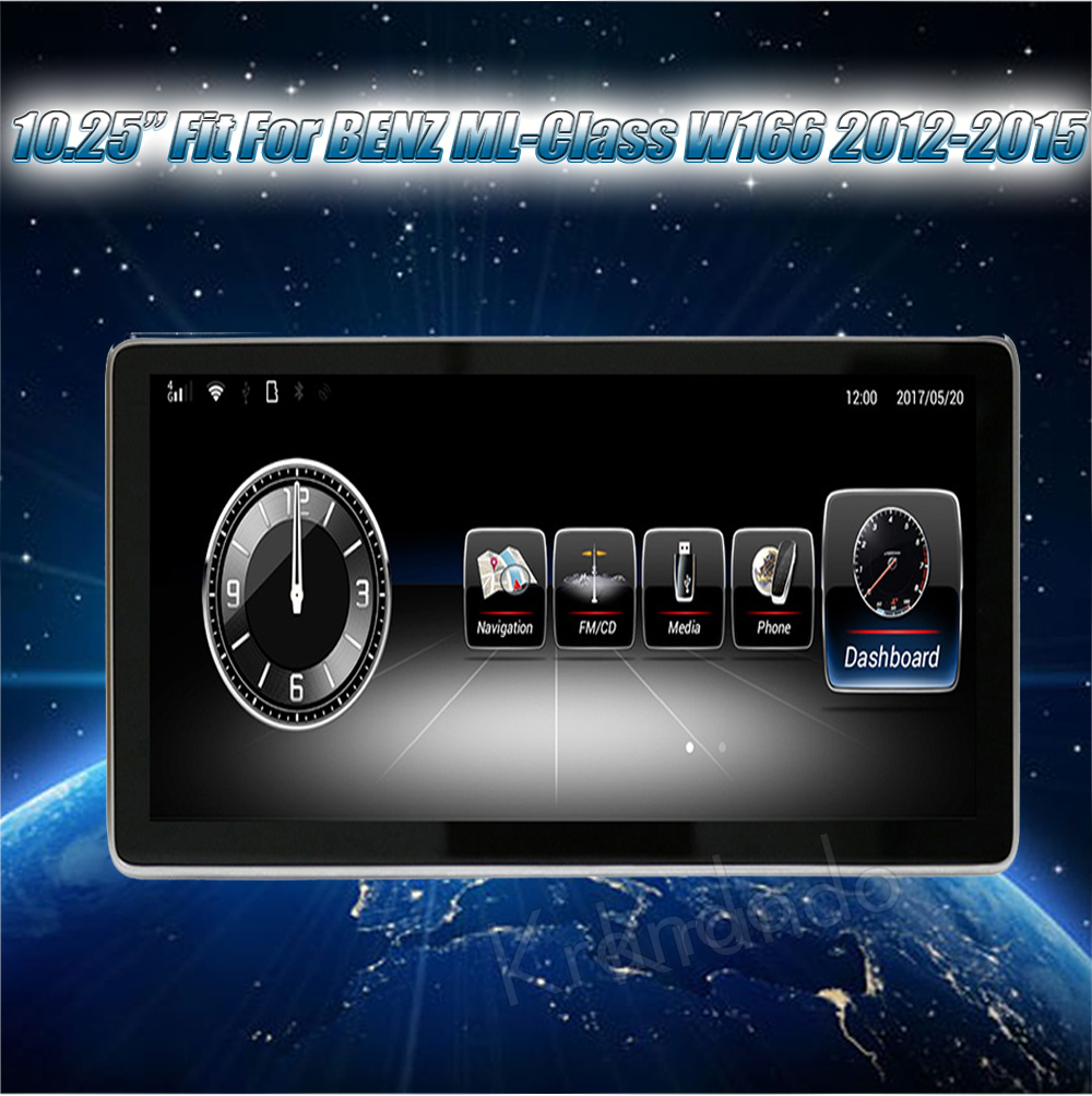 Krando 10.25'' android car radio multimedia for BENZ ML-Class W166 2012-2015 Big screen navigation with gps system