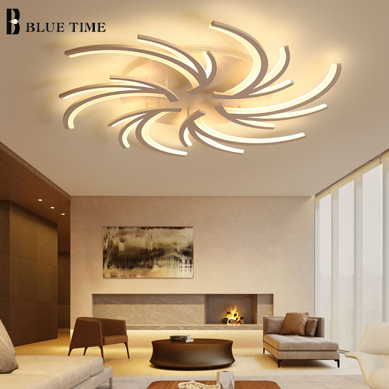 Acrílico blanco lámpara LED moderna para sala de estar dormitorio comedor lámpara de restaurante lámparas de techo Led lámpara de iluminación
