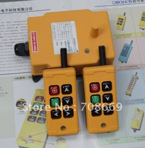 HS-6 2 Transmitters 2 Motions 1 Speed Hoist Crane Truck Remote Control System 110VAC