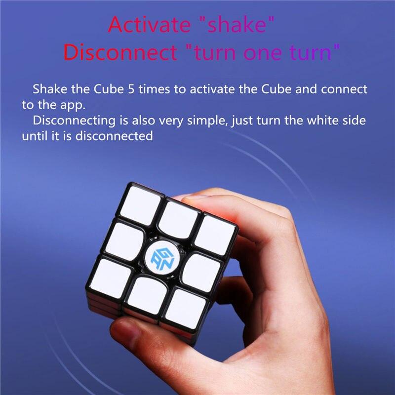 Nouveau GAN356 i magnétique magique vitesse Cube professionnel sans bâton gan356i aimants en ligne compétition Cubes GAN 356 i Cubo Magico - 4