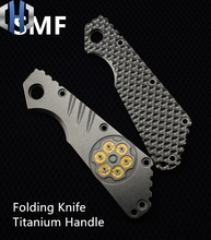 SMF Folding Knife Titanium Handle Outdoor Tools EDC Alloy  Patch