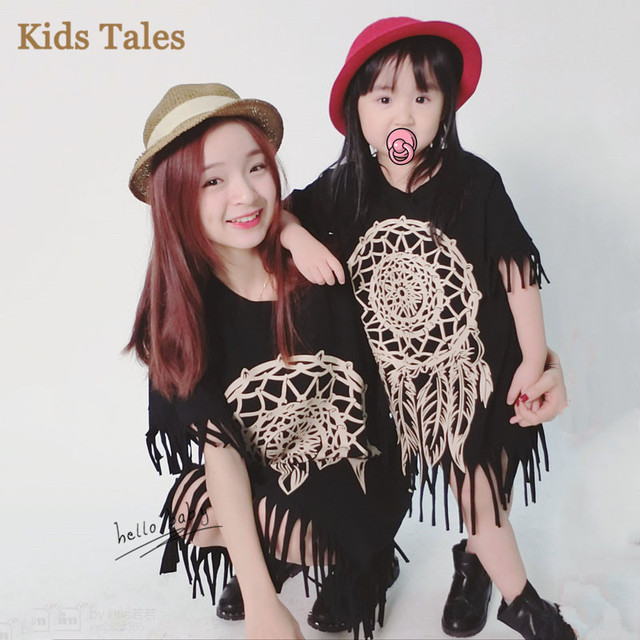 6d2f2068a87 SD-018 Children s clothing summer child children girls mom match clothing  dress same sets for family outfits