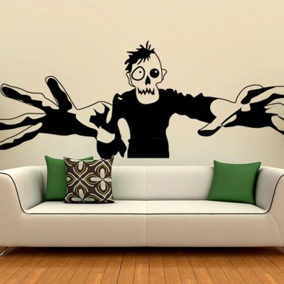 Halloween vinyl wall stickers zombie window stickers glass party stickers decal decorative decoration in wall stickers from home garden on aliexpress com