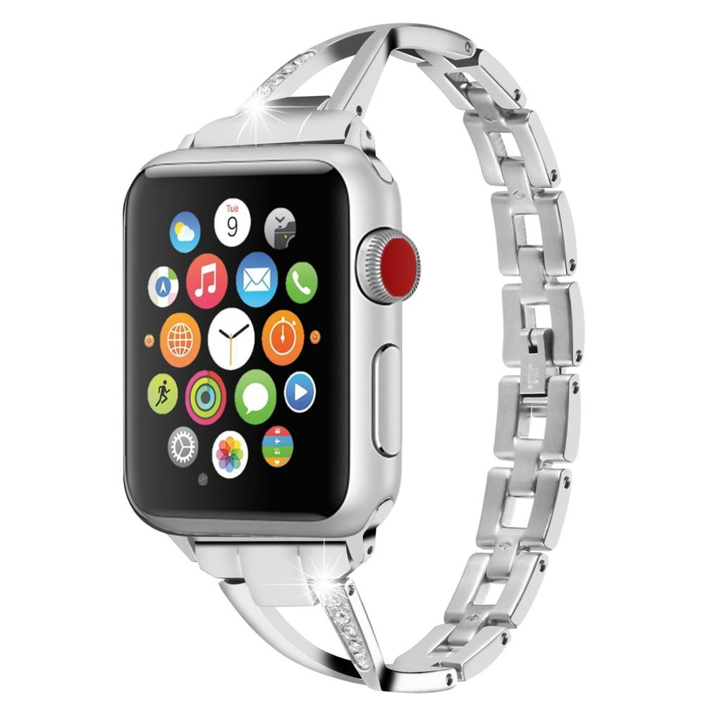 Stainless Steel watch band for apple watch band 44mm for apple watch 4 strap 40mm Bracelet For iWatch series 3 2 1 42mm 38mm in Watchbands from Watches