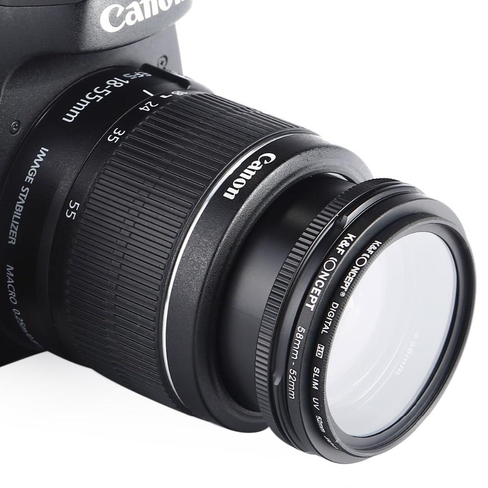 K&F konsepsiyası 18pcs 37-82mm 82-37mm Lens Yuxarıdakı Ring Filter - Kamera və foto - Fotoqrafiya 3