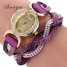 snowshine #10  Duoya Hot selling luxury fashion heart pendant women watches   free shipping